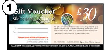 Simon James Williams Photography, Preston, Lancashire. Gift Vouchers.